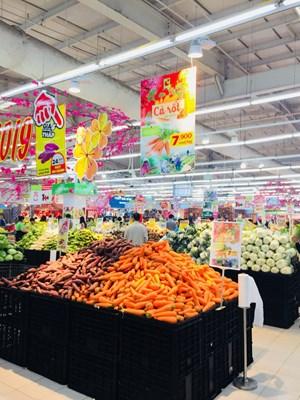 Big C tiêu thụ cà rốt hỗ trợ nông dân Hải Dương