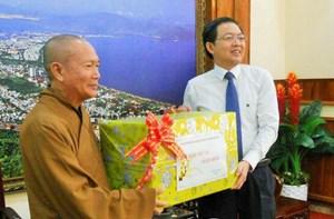 Bình Định:Các tổ chức tôn giáo thăm, chúc Tết UBND tỉnh