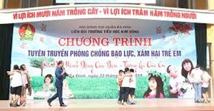 Các trường tiểu học Hà Nội tuyên truyền phòng chống bạo lực và xâm hại trẻ em