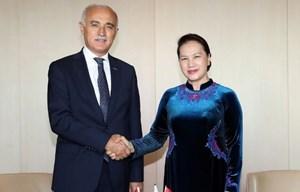 Chủ tịch Quốc hội Nguyễn Thị Kim Ngân tiếp Chủ tịch Hội đồng Kinh tế đối ngoại Thổ Nhĩ Kỳ