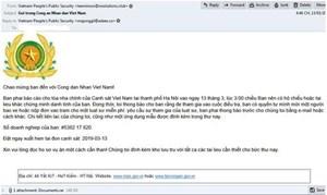 Hacker giả mạo thư của Bộ Công An phát tán mã độc tống tiền