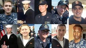 Hải quân Mỹ tìm thấy tất cả 10 thi thể thủy thủ mất tích