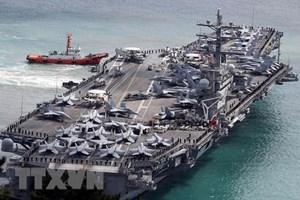 Hai tàu sân bay Mỹ tập trận hỗn hợp ở vùng biển Philippines