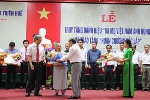 Thừa Thiên - Huế: Thêm 17 mẹ được truy tặng danh hiệu 'Bà mẹ Việt Nam Anh hùng'