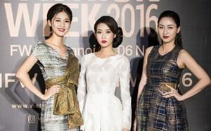 Hoa hậu Mỹ Linh đọ sắc với Á hậu Thanh Tú-Trà My trên thảm đỏ