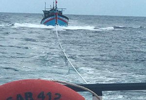 Kịp thời đưa ngư dân gặp nạn trên biển về Đà Nẵng