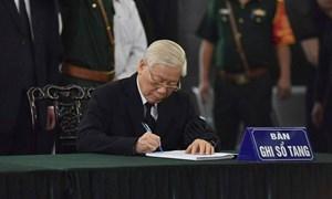 Lễ viếng nguyên Tổng Bí thư Đỗ Mười: Những lời từ biệt xúc động, chân thành