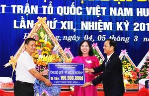 Mặt trận huyện Hòa Vang (Đà Nẵng) giảm nghèo cho 7.396 hộ