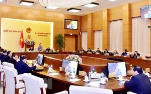 Ngày 21/2 diễn ra Phiên họp thứ 31 Ủy ban Thường vụ Quốc hội Khóa XIV
