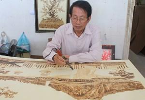 Nghệ nhân An Giang lập 2 kỷ lục vẽ tranh trên lá