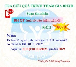 Nhắn tin theo đầu số 8079 tra cứu thông tin đóng BHXH