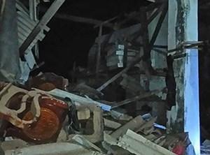 Nổ lớn tại đảo Phú Quý gây sập nhà, nhiều người bị thương