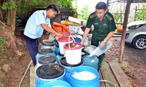 Bắt giữ gần 1 tấn măng chua, dưa muối nhập từ Trung Quốc