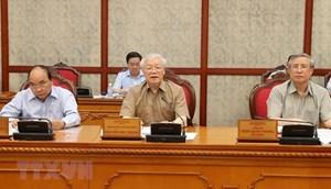 [ẢNH] Tổng Bí thư, Chủ tịch nước chủ trì họp Bộ Chính trị