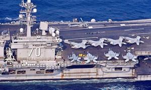 Tàu sân bay Mỹ Carl Vinson tiến vào vùng biển gần Triều Tiên