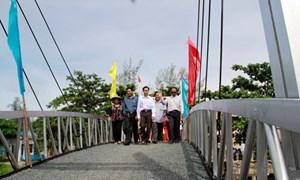 Thêm một cây cầu cho dân nghèo tại Kiên Giang