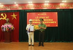 Thiếu tướng Tô Văn Huệ làm Cục trưởng Hồ sơ Nghiệp vụ Bộ Công an