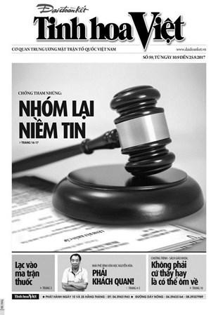 Tìm đọc Tinh hoa Việt số 59, ra ngày 10/9/2017