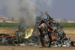 Trực thăng Nga bị bắn rơi ở Syria, 5 người chết