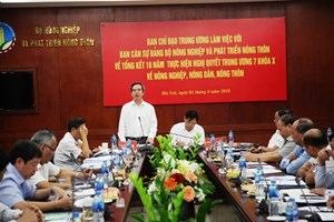 Trưởng Ban Kinh tế Trung ương làm việc với Bộ NNPTNT