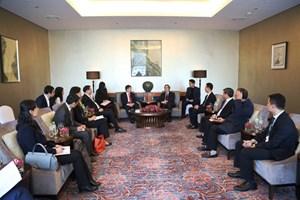 Trưởng Ban Kinh tế Trung ương tiếp Đoàn đại biểu Trung tâm Nghiên cứu Phát triển Quốc vụ viện Trung Quốc