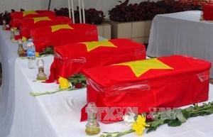 Truy điệu và an táng 26 hài cốt liệt sỹ hy sinh tại chiến trường Lào