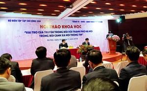 Vai trò của truyền thông đối với thành phố Hà Nội