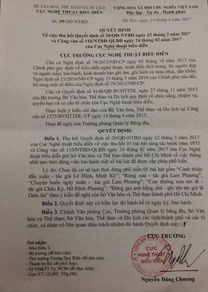 Vụ cấm 5 bài hát trước 1975 - Phó Cục trưởng Cục NTBD: 'Chúng tôi xin nhận trách nhiệm'