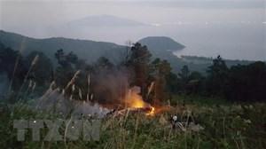 Xe bồn chở dầu va chạm ở đèo Hải Vân, một xe rơi vực, tài xế tử vong