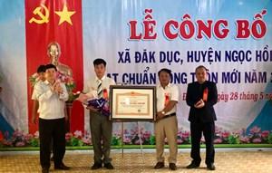 Kon Tum công bố xã Đăk Dục đạt chuẩn nông thôn mới năm 2019