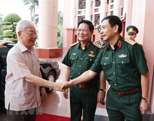 [ẢNH] Tổng Bí thư, Chủ tịch nước chỉ đạo tại hội nghị của Quân ủy TW