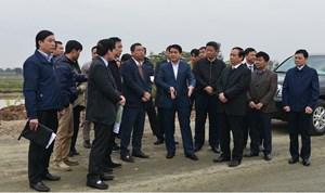 Chủ tịch UBND TP Hà Nội Nguyễn Đức Chung kiểm tra dự án đầu tư xây dựng đường trục phía Nam