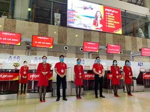 Vietjet thông báo thay đổi khu vực làm thủ tục tại sân bay quốc tế Nội Bài