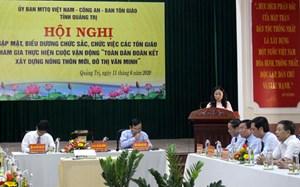Quảng Trị: Biểu dương chức sắc, chức việc tôn giáo tham gia xây dựng nông thôn mới