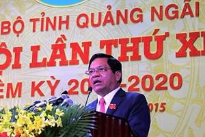 Bộ Chính trị cho ông Lê Viết Chữ thôi chức Bí thư Tỉnh ủy Quảng Ngãi