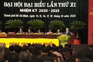 Khai mạc Đại hội đại biểu Đảng bộ TP HCM lần thứ XI