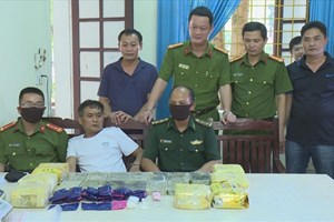 Nghệ An: Thu giữ 13 bánh heroin, 7kg ma túy đá, 10.000 viên ma túy tổng hợp
