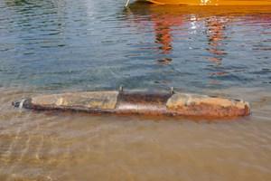 Quảng Bình: Phát hiện quả bom còn nguyên kíp nổ trên sông Gianh