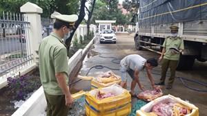 Chở 3 tạ thịt lợn thối từ Quảng Nam vào Đắk Lắk tiêu thụ
