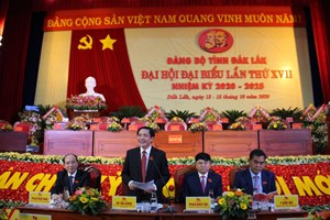 Ông Bùi Văn Cường tái đắc cử Bí thư Tỉnh ủy Đắk Lắk