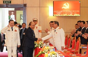 [ẢNH] Thủ tướng Nguyễn Xuân Phúc dự Đại hội Đảng bộ Công an Trung ương