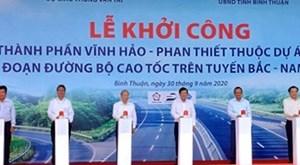 Lễ khởi công đường cao tốc Vĩnh Hảo - Phan Thiết