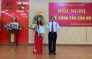 Bà Bùi Thị Quỳnh Vân được chuẩn y Bí thư Tỉnh ủy Quảng Ngãi