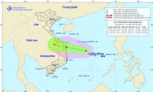 Áp thấp nhiệt đới có khả năng mạnh lên thành bão