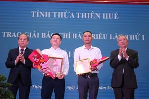 Thừa Thiên - Huế: Trao Giải báo chí Hải Triều lần thứ I
