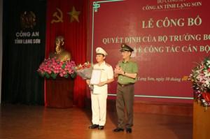Công an tỉnh Lạng Sơn, Cao Bằng có tân Giám đốc