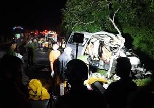 Danh tính 8 người tử nạn trong vụ TNGT nghiêm trọng sáng nay tại Bình Thuận