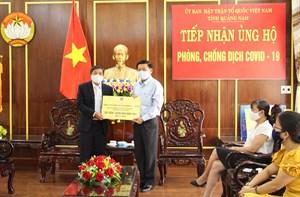 Mặt trận Quảng Nam tiếp nhận 1,2 tỷ đồng phòng, chống dịch Covid-19