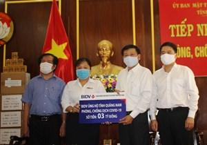 Mặt trận Quảng Nam chuyển hơn 6,1 tỷ đồng cho các đơn vị lo chống dịch