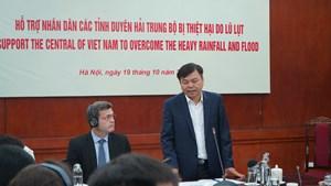 Các cơ quan ngoại giao cam kết hỗ trợ nhân dân miền Trung bị lũ lụt